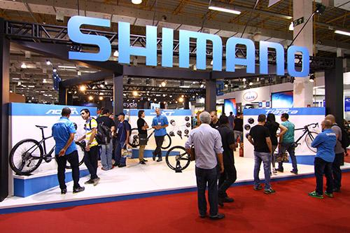 Estande Shimano na Cycle Fair/ Foto: JB Carvalho / Shimano