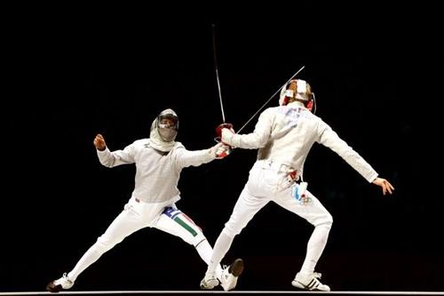Duelo de sabre durante os Jogos Londres 2012 / Foto: Getty Images / Hannah Johnston