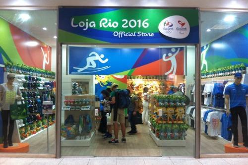 f01691dc8 A loja do Comitê Rio 2016 no aeroporto Santos Dumont   Foto  Divulgação