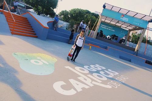 Campeã mundial praticou modalidades junto a 120 crianças de escolas  municipais   Foto  Paula Guimarães 505810aa6db79