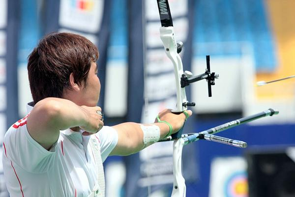Primeiro dia de competição do London Archery Classic, no Lord's Cricket Ground, a coreana recordista mundial, Im Dong-Hyun, fez 693 pontos, e quebrou seu próprio recorde, ainda na rodada de classificação / Foto: Divulgação
